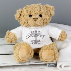 Personalised On Your Christening Teddy Bear