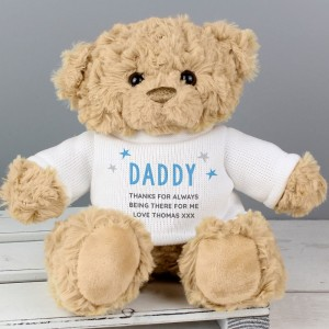 Personalised Blue Name & Message Teddy Bear
