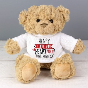 Personalised Love You Beary Much Teddy Bear