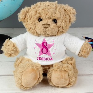 Personalised Pink Big Age Teddy Bear