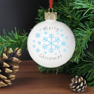 Personalised Snowflakes Bauble