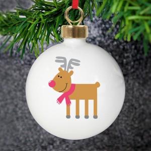 Personalised New Reindeer Bauble