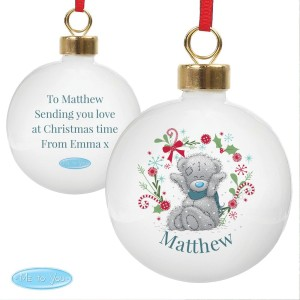 "Personalised Me To You ""For Grandad, Dad"" Christmas Bauble"