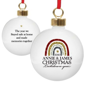Personalised Christmas Lockdown Year Bauble