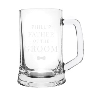 Personalised Father of the Groom Pint Stern Tankard