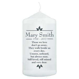 "Personalised Sentiments ""Those We Love"" Pillar Candle"