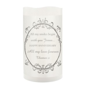 Personalised Ornate Frame LED Candle