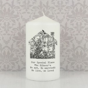Personalised 1805 - 1874 Old Series Map Home Candle