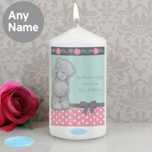 Personalised Me To You Pastel Polka Dot for Her Candle