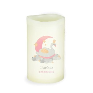 Personalised Swan Lake LED Candle