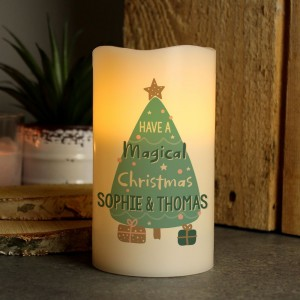 Personalised Have A Magical Christmas LED Candle