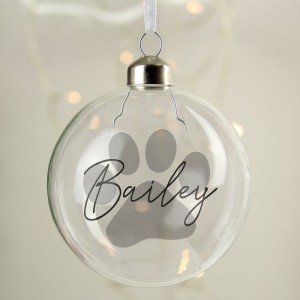 Personalised Pet Glass Bauble
