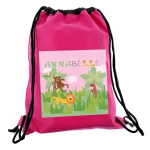 Personalised Animal Alphabet Girls Swim & Kit Bag