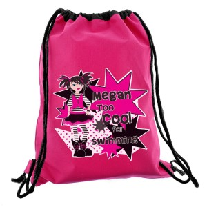Personalised Girls Too Cool Swim & Kit Bag