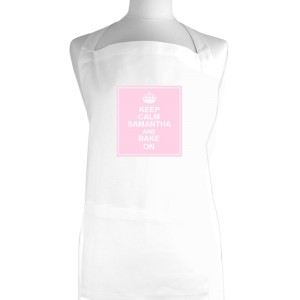 Personalised Keep Calm White Apron