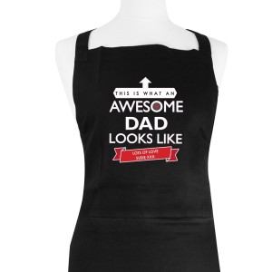 "Personalised ""This is What an Awesome... Looks Like"" Black Apron"