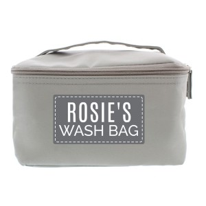 Personalised Classic Grey Vanity Bag