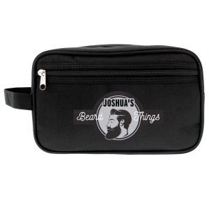 Personalised Beard Things Black Vanity Bag