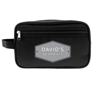Personalised Plaque Black Vanity Bag