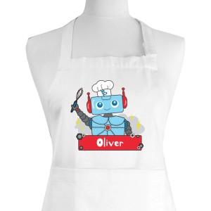 Personalised Robot Children's Apron