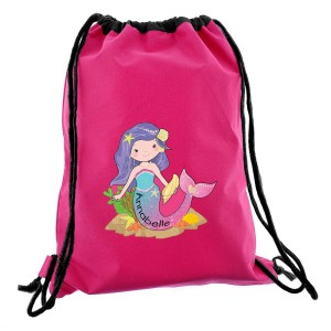 Personalised Mermaid Pink Swim Bag