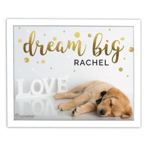 Personalised Rachael Hale Dream Big White Framed Print