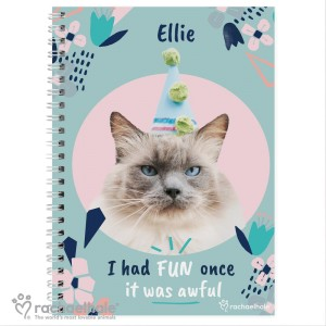 "Personalised Rachael Hale ""I Had Fun Once"" Cat A5 Notebook"