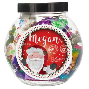 "Personalised Santa ""Nice list"" Sweet Jar"