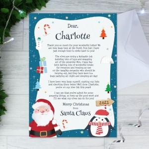 Personalised Christmas Penguin Letter