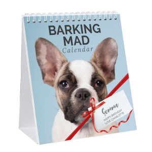 Personalised Barking Mad Dog Desk Calendar