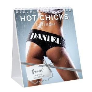 Personalised Hot Chicks Desk Calendar