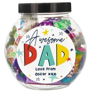 Personalised Awesome Dad Sweet Jar