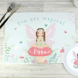 Personalised Toadstool Fairy Placemat