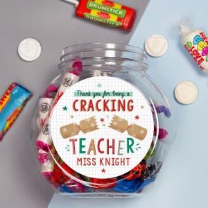 Personalised Cracking Teacher Sweet Jar