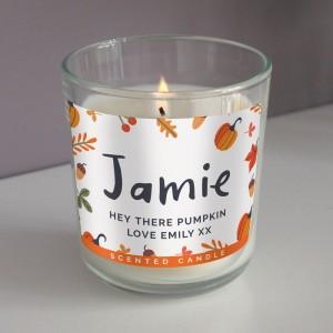 Personalised Pumpkin Scented Jar Candle