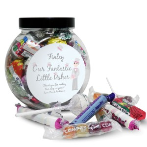 Personalised Fabulous Usher Round Sweet Jar