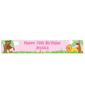 Personalised Girls Animal Banner