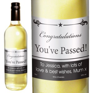 Personalised Black Border White Wine