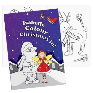 "Personalised ""It's Christmas"" Fairy Colouring Book"