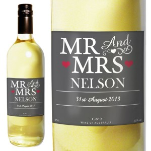Personalised Mr & Mrs White Wine