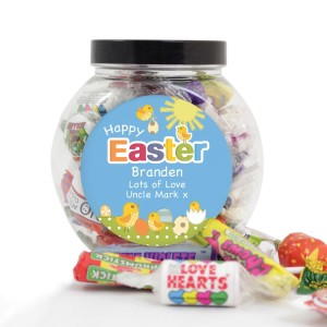Personalised Easter Chick Sweet Jar