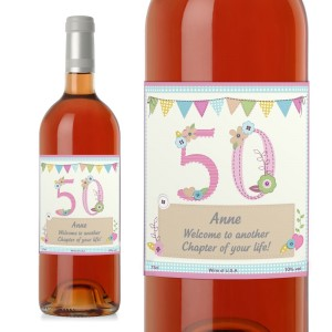 Personalised Birthday Craft Rose Wine