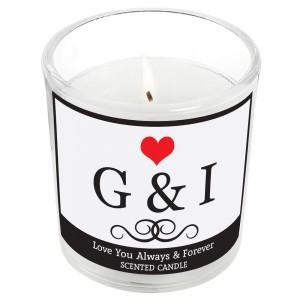 Personalised Monogram Scented Jar Candle