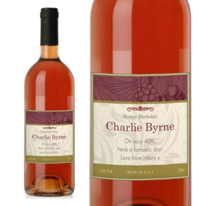 Personalised Traditional Rose Wine