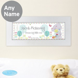 Personalised Tiny Tatty Teddy Cuddle Bug Name Frame