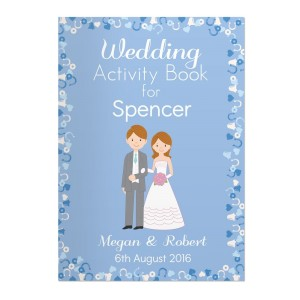 Personalised Wedding Activity Book for Boys