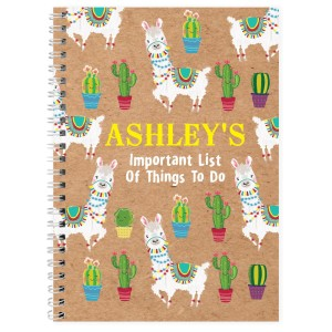 Personalised Llama A5 Notebook