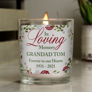 Personalised In Loving Memory Scented Jar Candle