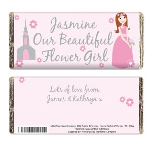 Personalised Fabulous Flower Girl Milk  Chocolate Bar