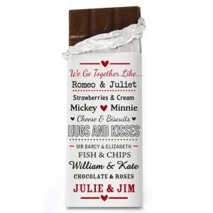 Personalised We Go Together Like.... Milk Chocolate Bar